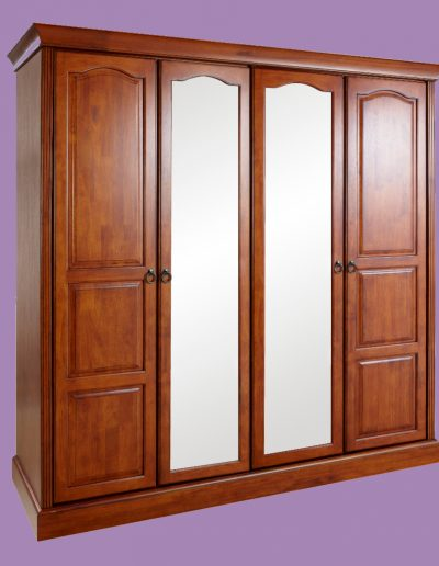 triple, furniture, bedroom, chair, mirror, doors, cupboard