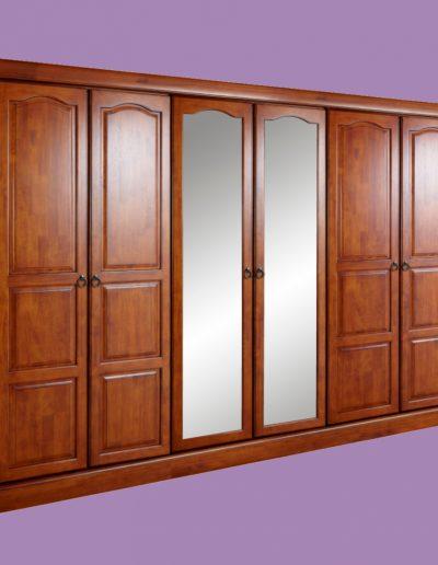 cupboard, doors, double doors, mirror, brown
