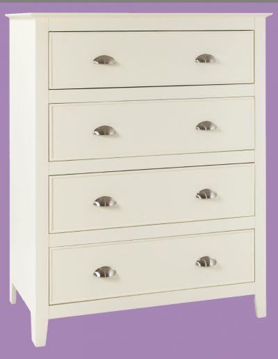 draws, dresser, white