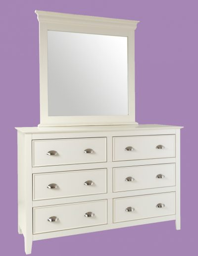 draws, dresser, mirror, table, white