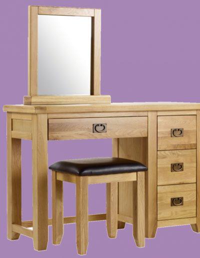 dresser, seat, chair, brown, mirror