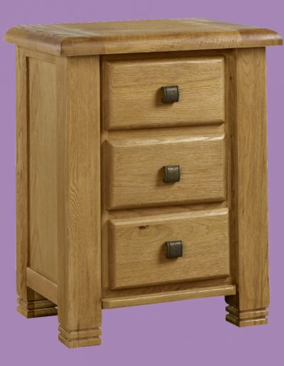 small table, 3 draws, brown