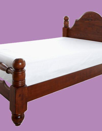hardwood, bed, mattress