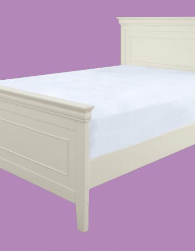 white, hardwood, bed, mattress