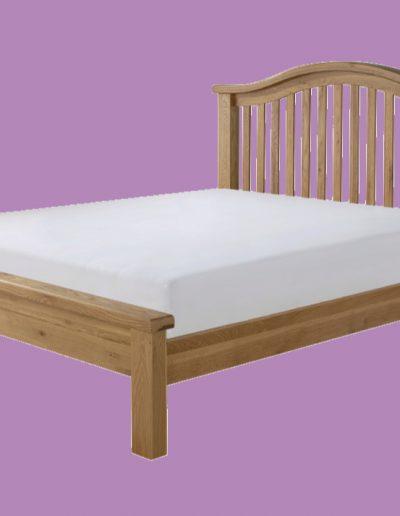 wooden, bed, mattress