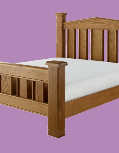 hardwood, bed, large, double